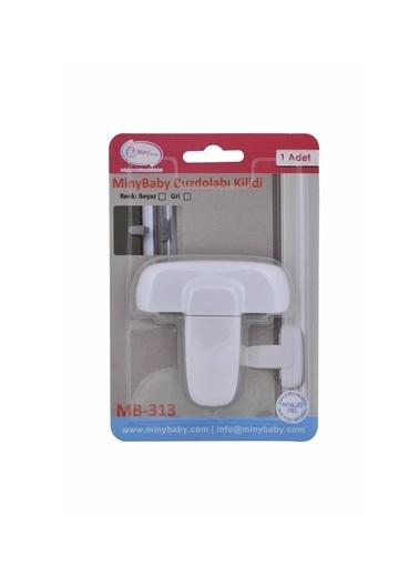 Miny Baby MB-313 Mandallı Buzdolabı Kilidi Beyaz Beyaz